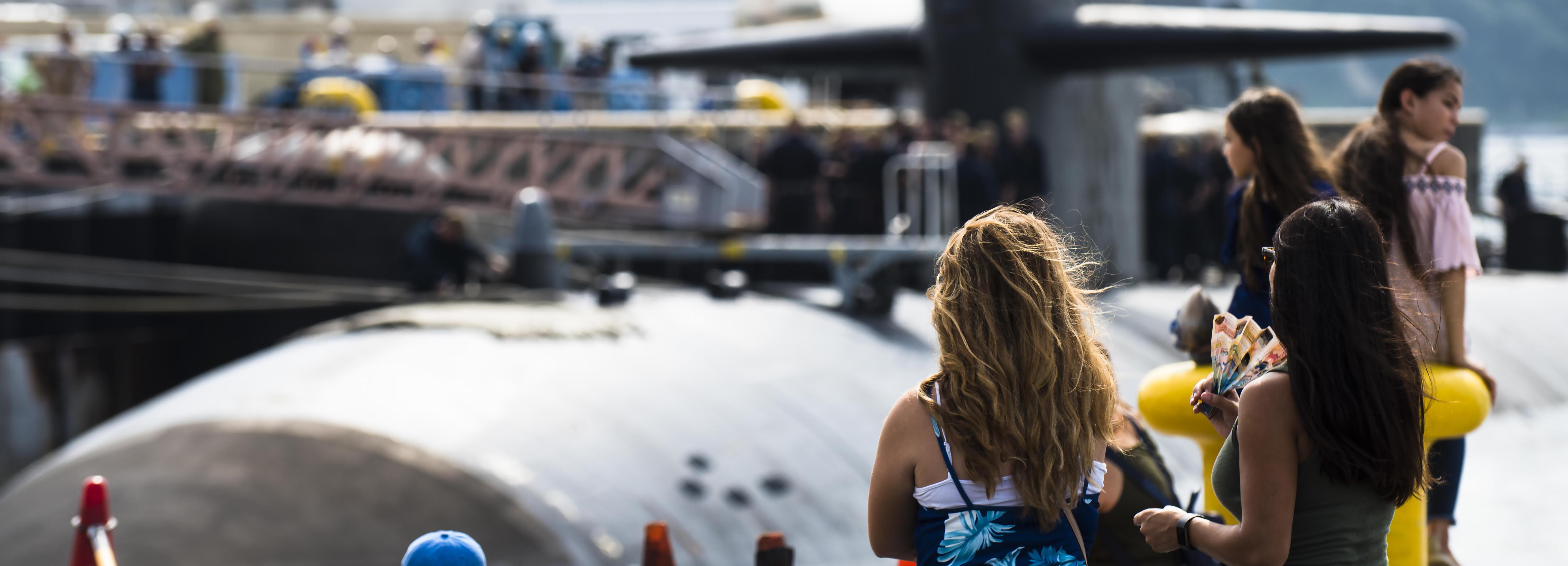 USS Oklahoma City (SSN 723) visits CFAY