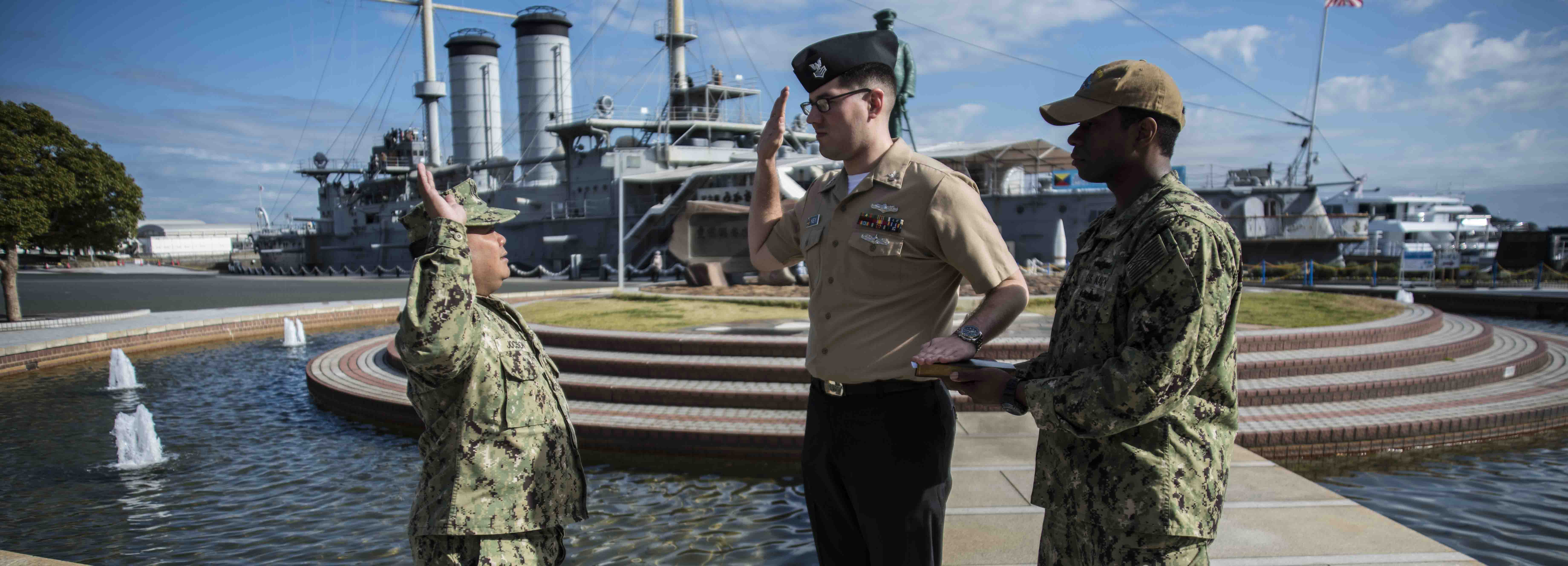 IS1 Matthew Key Reenlistment