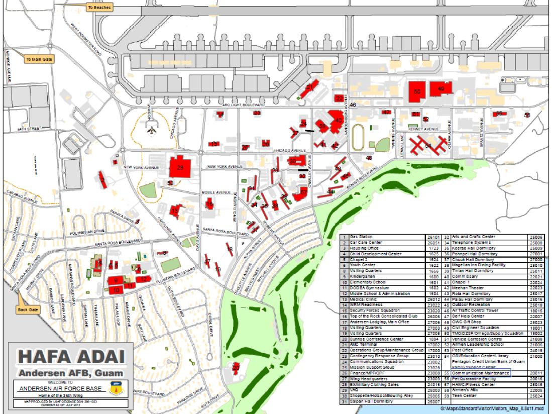 Maps PCS To Guam Go Guam COMSUBPAC - Map of guam